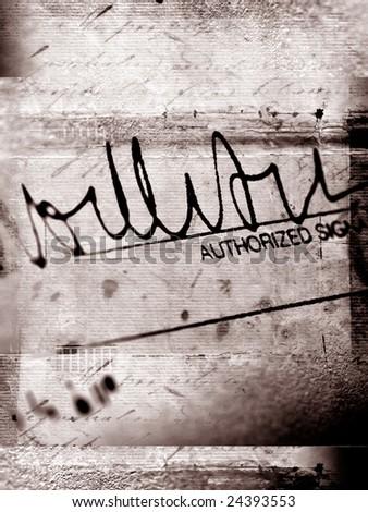Signature - stock photo