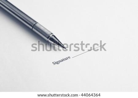 signature here