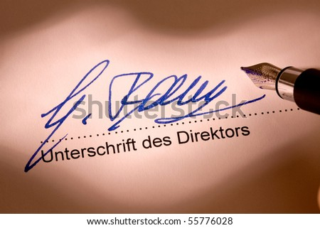 Signature of a director under an official document