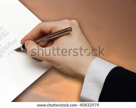 Signature of Business Contract on the Sky