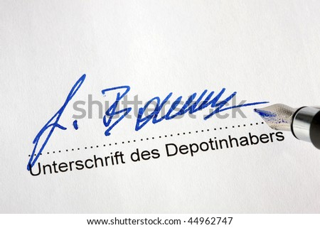 Signature of the holder to establish a securities account