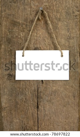 signboard on wood background texture
