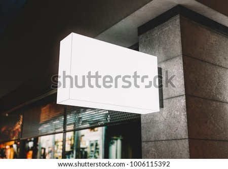 Signboard outdoor mockup