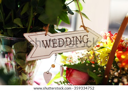signboard wedding #359334752