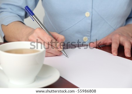 Signing an empty document