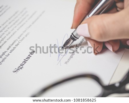 signing important documents #1081858625