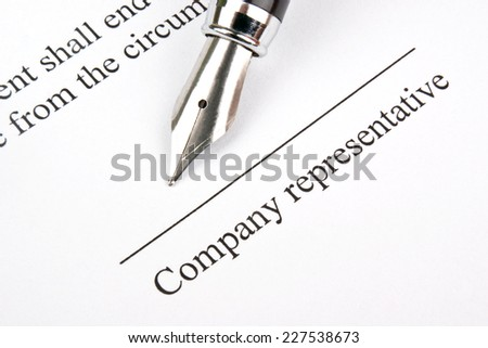 Signing the contract (agreement)