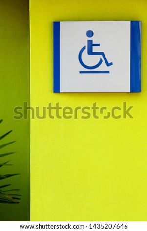 Signpost for people with disabilities #1435207646