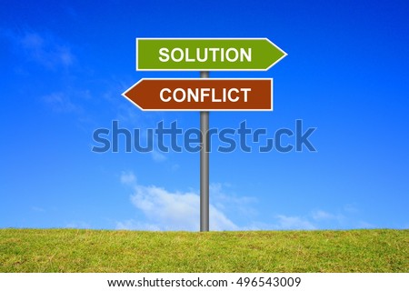Signpost is showing solution or conflict