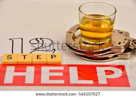 signs and symbols of alcoholism and the need for help. #566107027