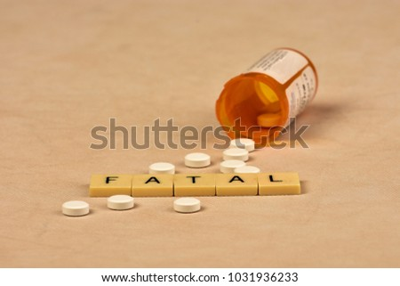 Signs and symbols of opioid abuse and consequences. #1031936233