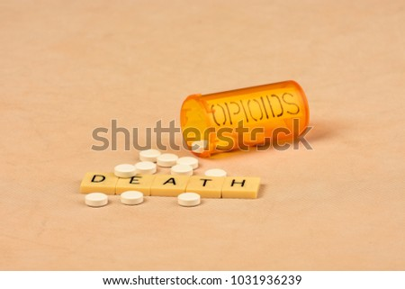 Signs and symbols of opioid abuse and consequences. #1031936239