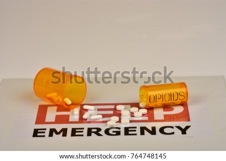 Signs and symbols of opioid crisis. #764748145