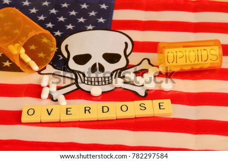 Signs and symbols of opioid crisis in America. #782297584