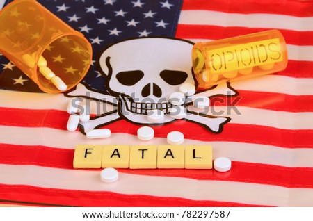 Signs and symbols of opioid crisis in America. #782297587