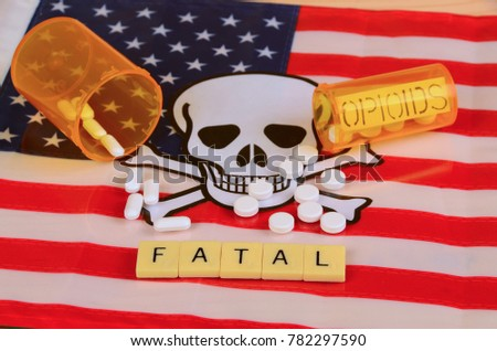 Signs and symbols of opioid crisis in America. #782297590