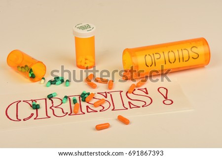 Signs and symbols of the opioid crisis. #691867393