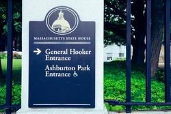 Signs general hooker entrance Ashburton park entrance.