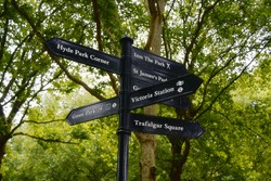 Signs in the park