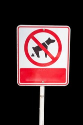 Signs prohibiting dogs