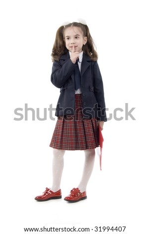 Very young schoolgirl shy right! think