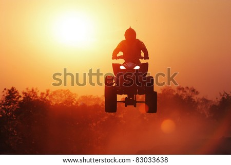 Silhouette ATV jump