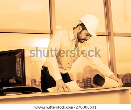 Free photos silhouette builder engineer wear security helmet look at silhouette builder engineer wear security helmet look at blueprint paper construction drawing plan on background of malvernweather Gallery