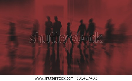 Silhouette Business People Traveling Cityscape Commuter Concept #331417433