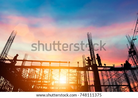 silhouette civil site engineer...