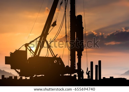 silhouette construction worker...