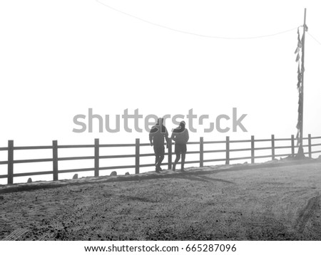 silhouette couple #665287096