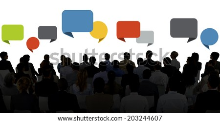 Silhouette Group Of Business People in Seminar Stock photo ©
