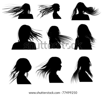Silhouette Hair Woman