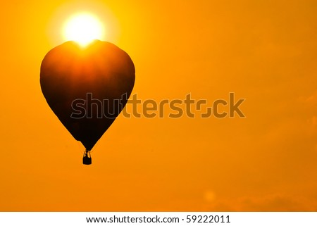 silhouette hot air balloon. it is good for desktop background