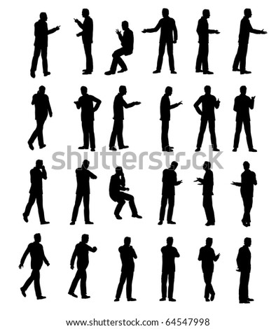 Silhouette man business
