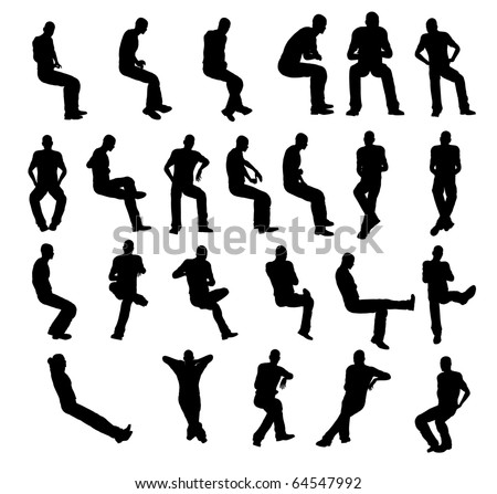Silhouette man sitting
