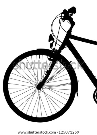 silhouette of a  bike isolated ( clipping path)