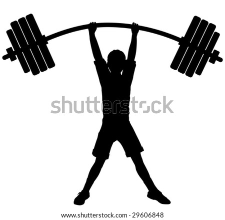Bending Barbell Vector Editable vector file (.eps)