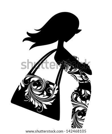 stock-photo-silhouette-of-a-chic-young-woman-with-a-large-handbag-posing-in-profile-142468105.jpg