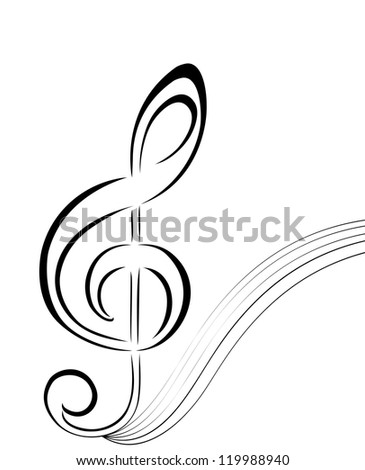 silhouette of a music note