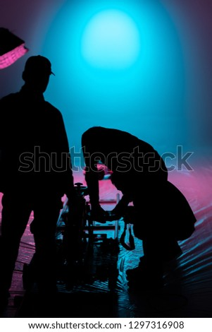 silhouette of a people with a camera #1297316908