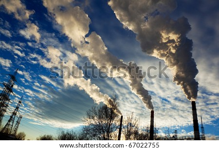 silhouette of a pipe with smoke