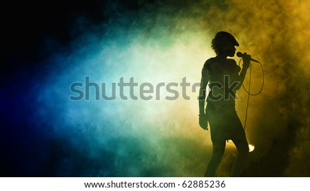 silhouette of a Singing woman