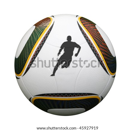 Silhouette of a world cup player in South Africa
