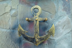 silhouette of anchors, carving from iron