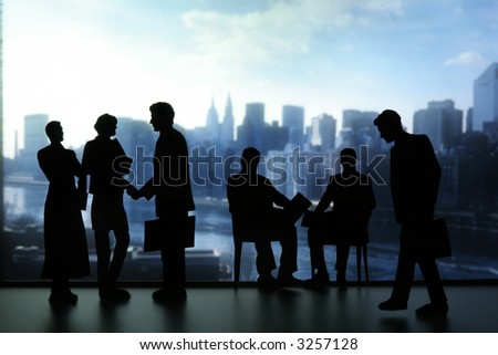 Silhouette of Business People-aa4