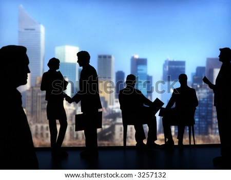 Silhouette of Business People-aa8