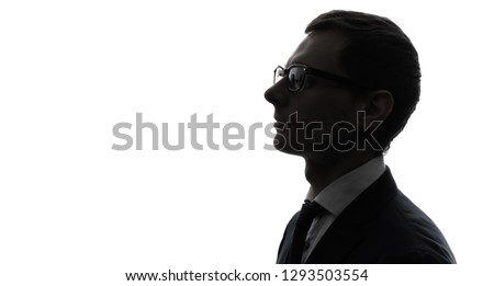 Silhouette of businessman.