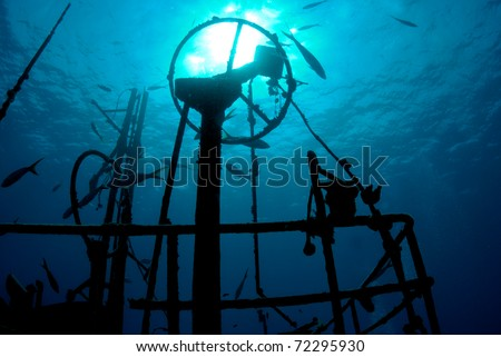Silhouette of Crows Nest, Wreck Diving