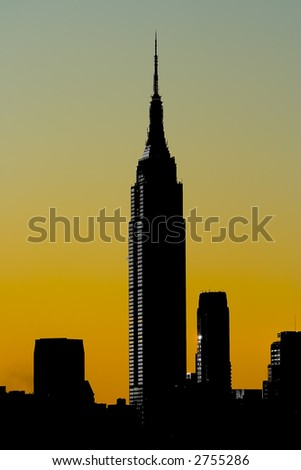 Silhouette of Empire State Building
